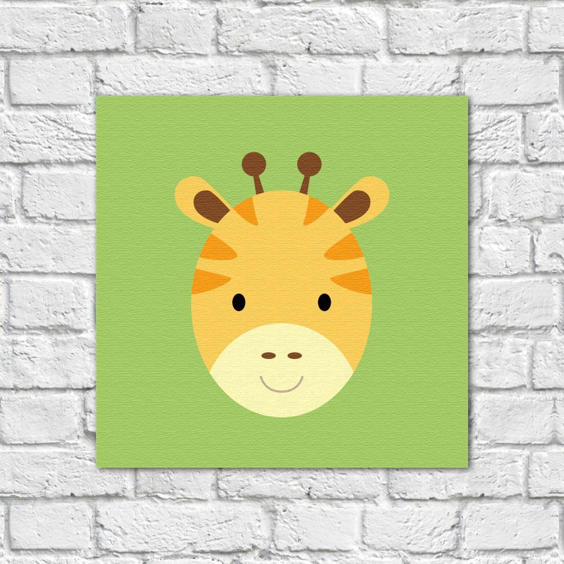 Conjunto de Quadros Decorativos Infantil Animais Girafa