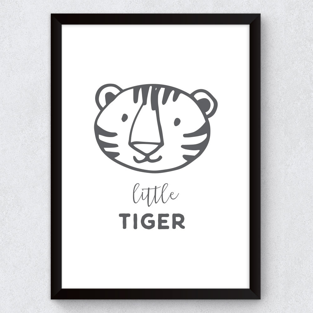 Quadro Decorativo Infantil Little Tiger
