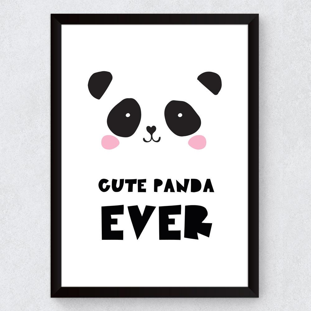 Quadro Decorativo Infantil Panda