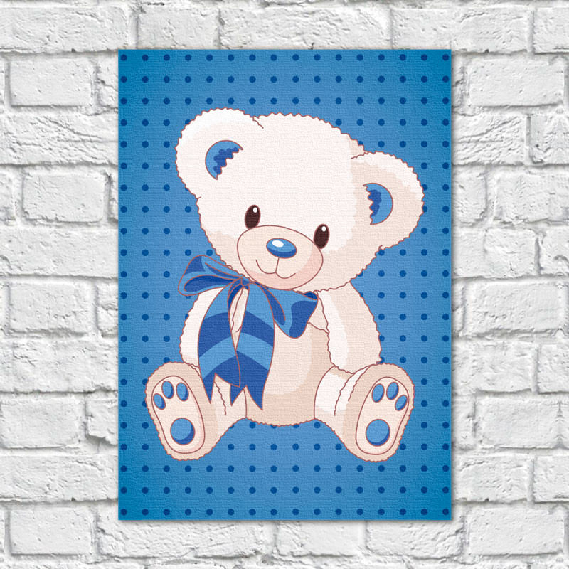 Quadro Decorativo Infantil Urso Menino
