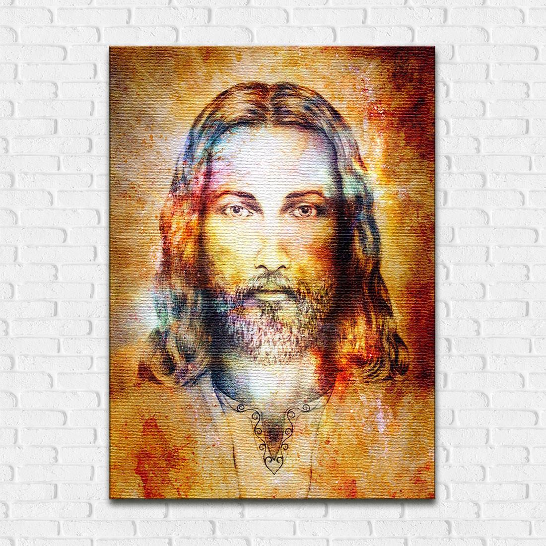 Quadro Decorativo Jesus Cristo Estilizado - Em Canvas