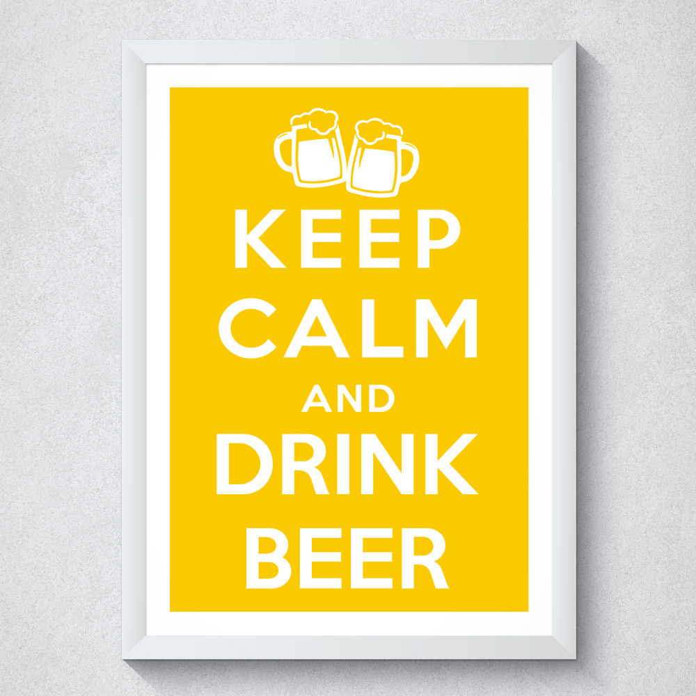 Quadro Decorativo Keep Calm And Drink Beer