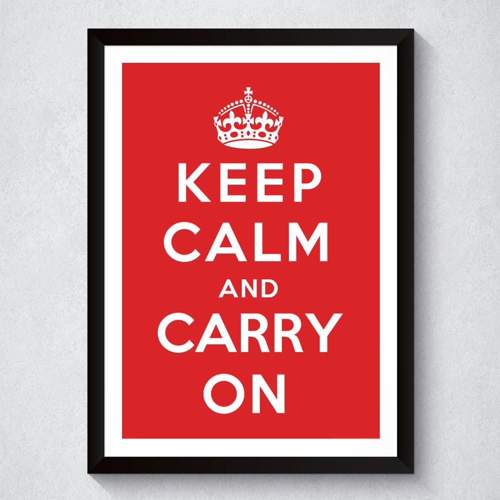 Quadro Decorativo Keep Calm And Carry On