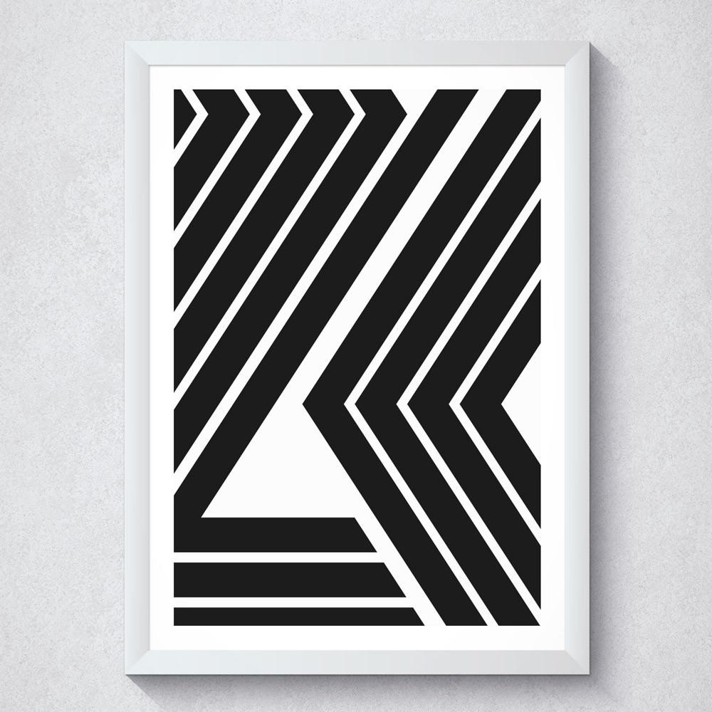 Quadro Decorativo Geométrico Linhas