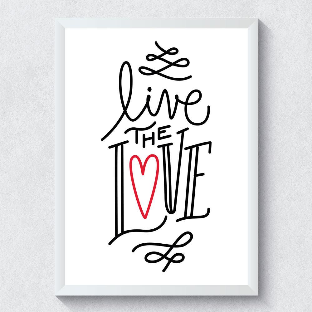 Quadro Decorativo Live The Love