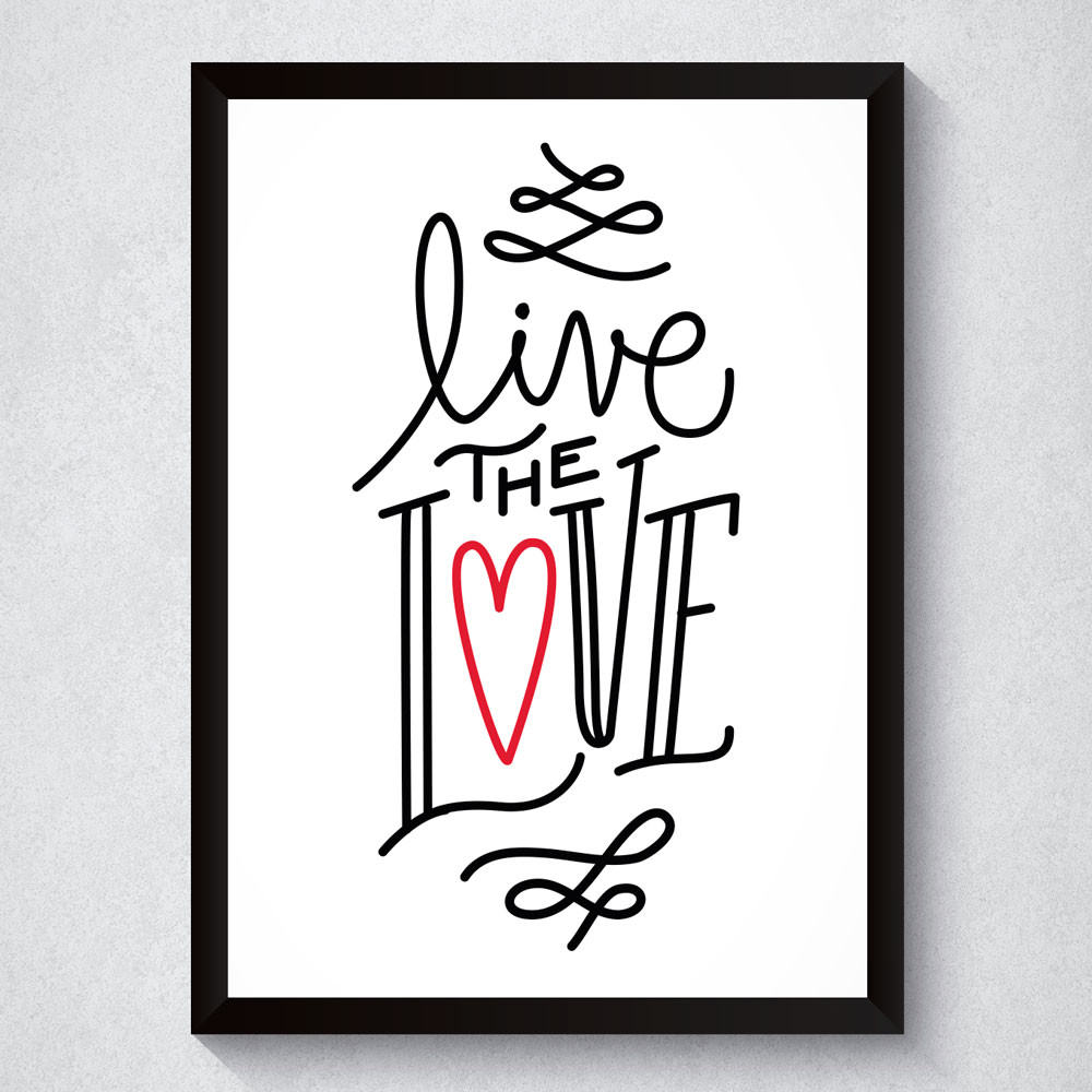 Quadro Decorativo Live The Love