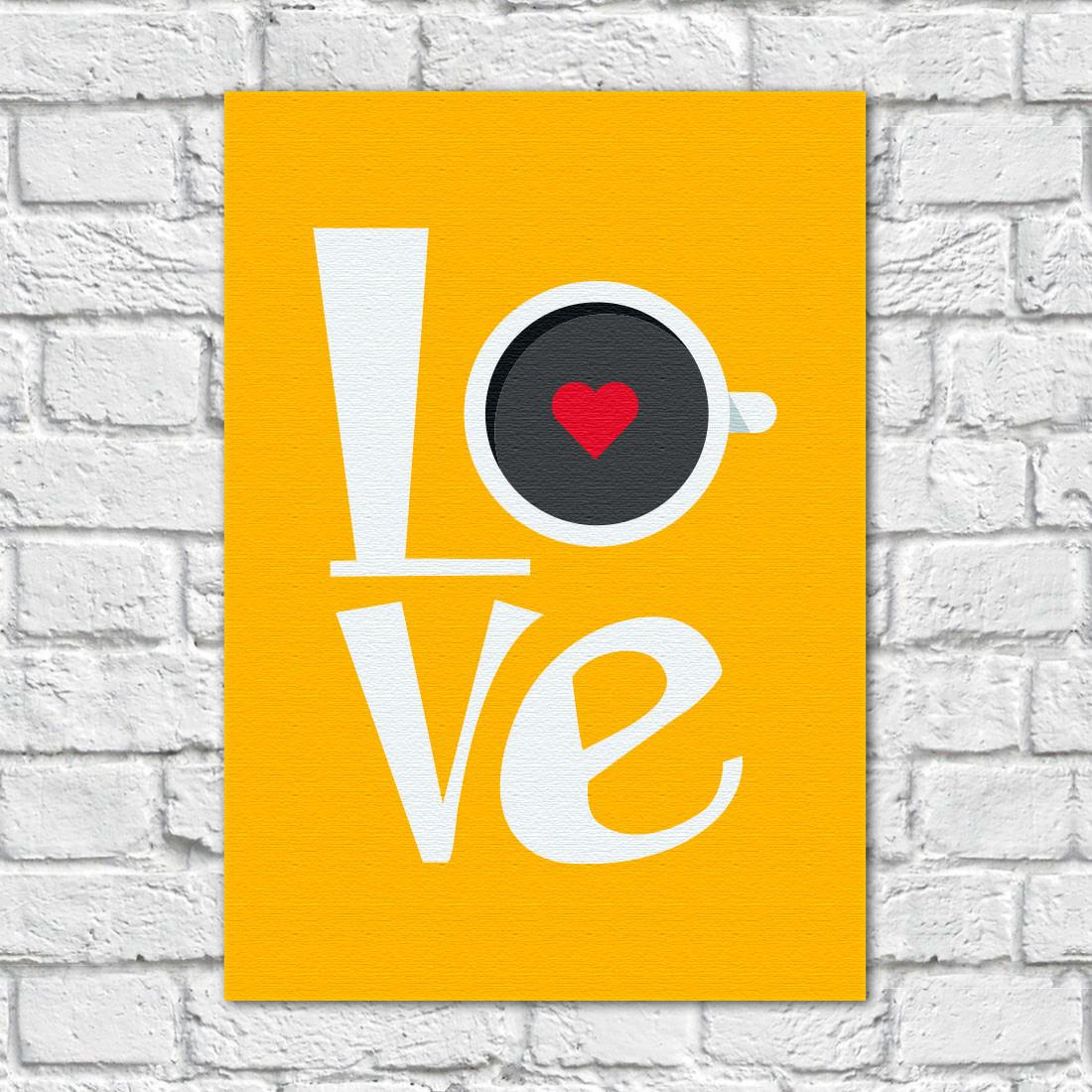 Quadro Decorativo Love Café - Em Canvas