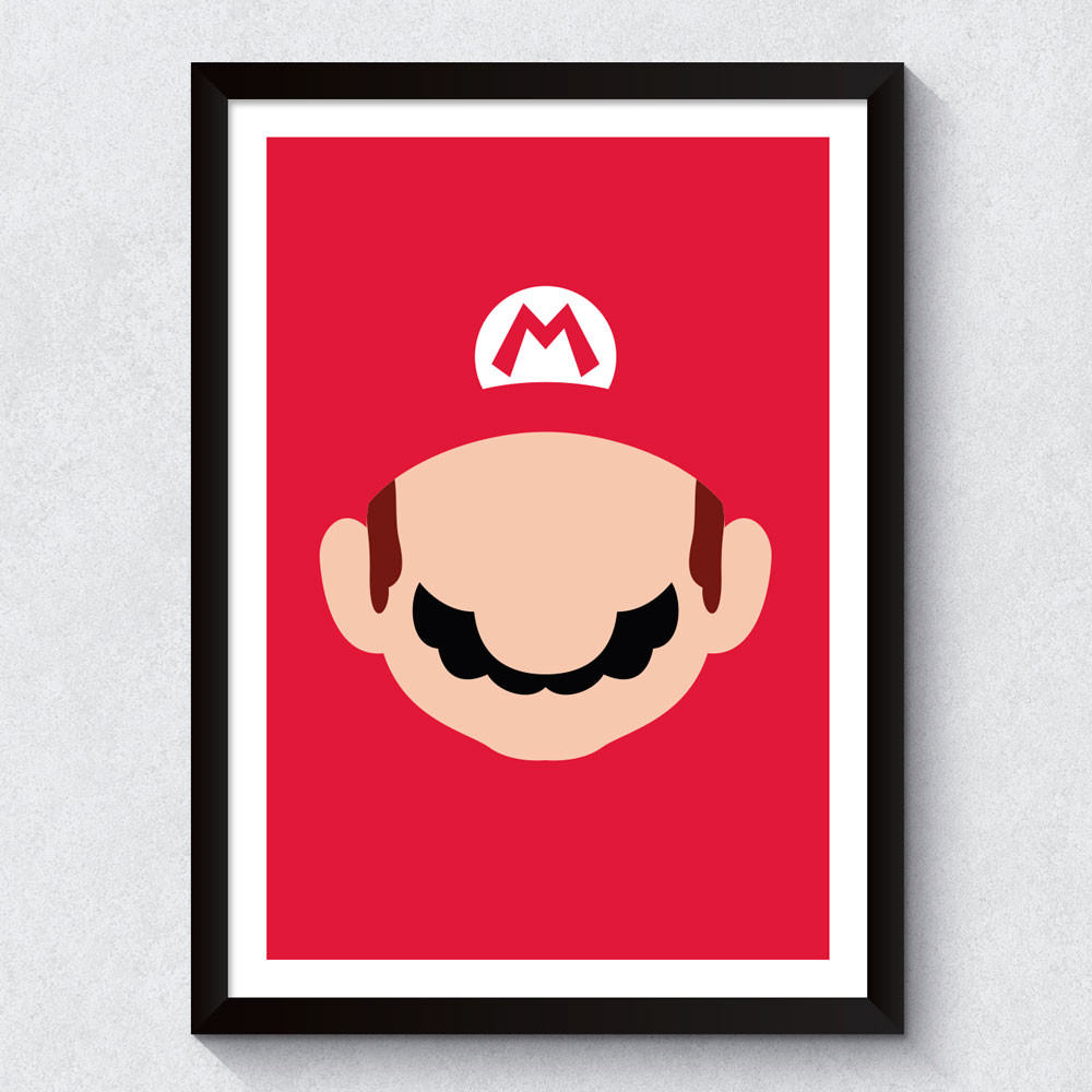 Quadro Decorativo Mario Bros