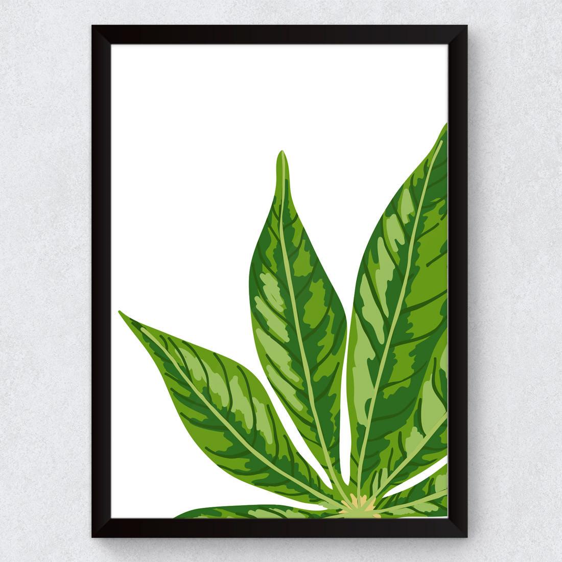 Quadro Decorativo Folhagem Palmeira