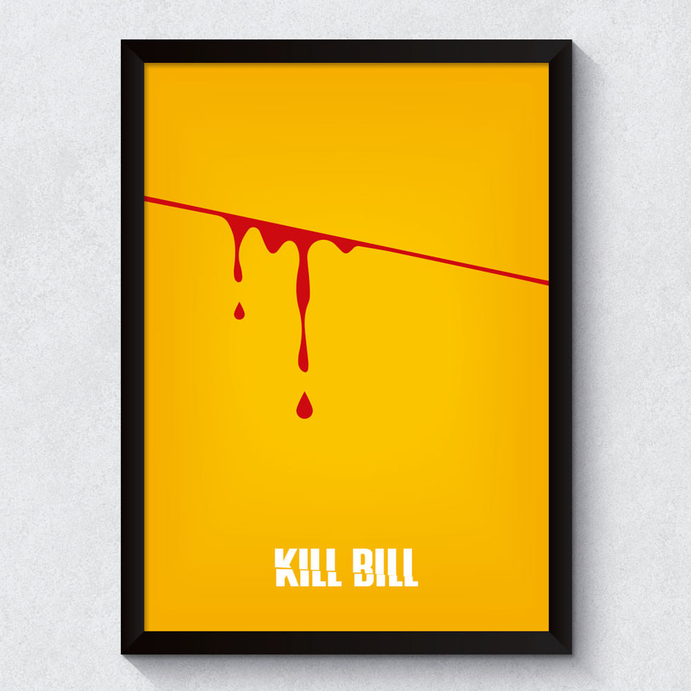 Quadro Decorativo Minimalista Kill Bill