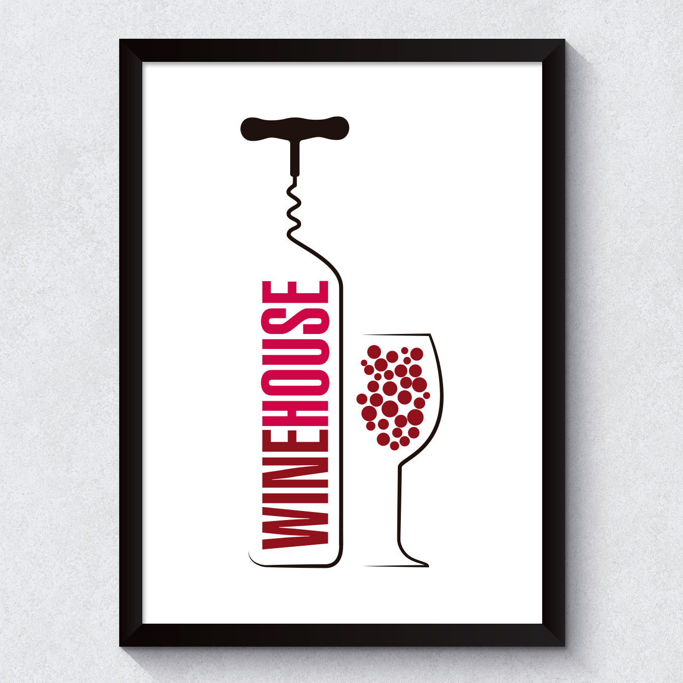 Quadro Decorativo Wine House