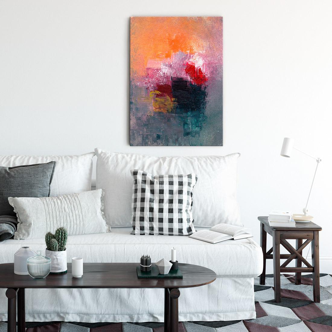 Quadro Decorativo Pintura Abstrata Mancha de Tinta