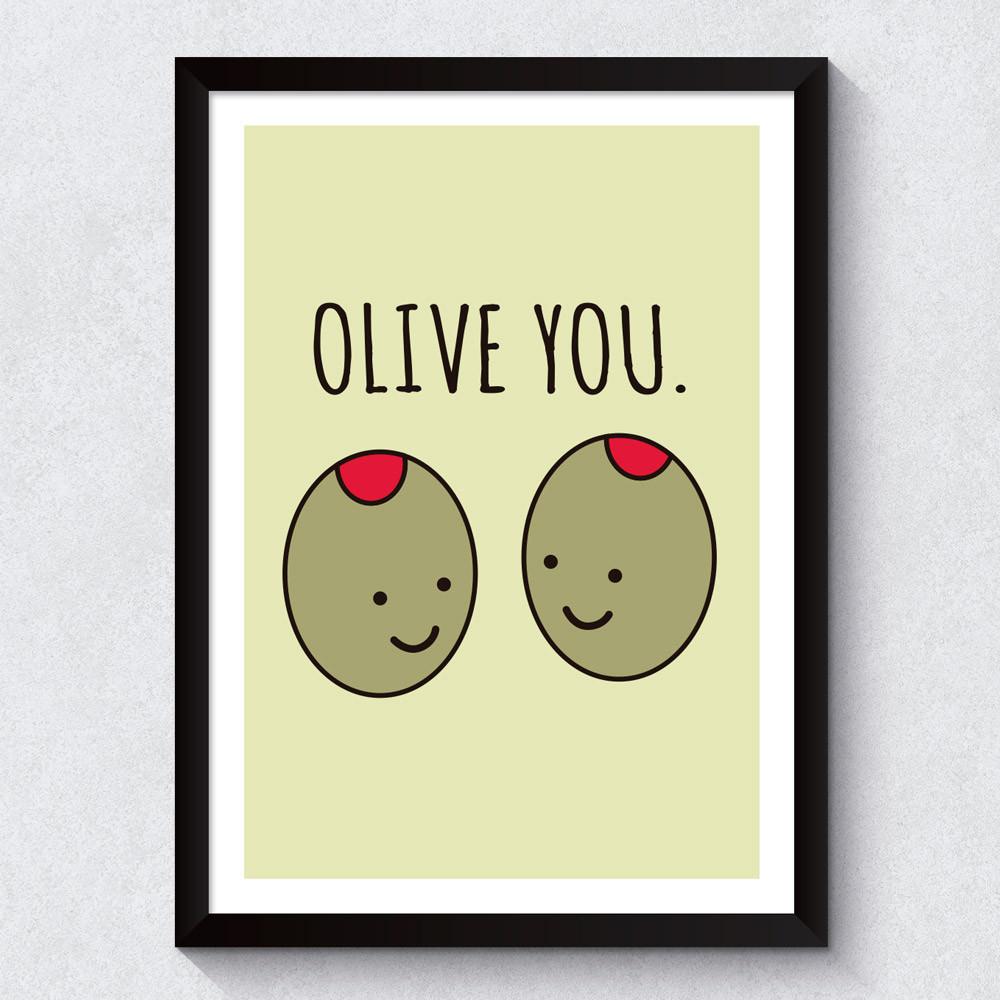Quadro Decorativo Olive You