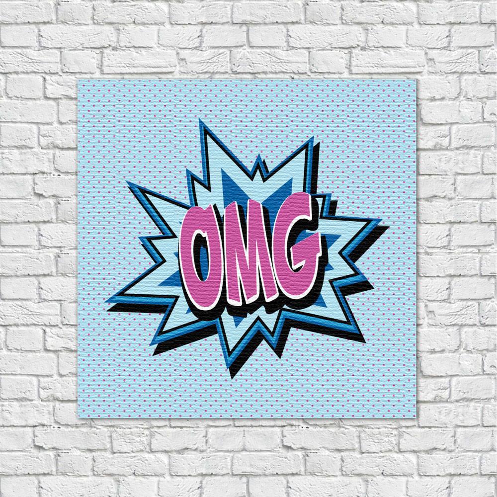 Quadro Decorativo OMG - Em Canvas