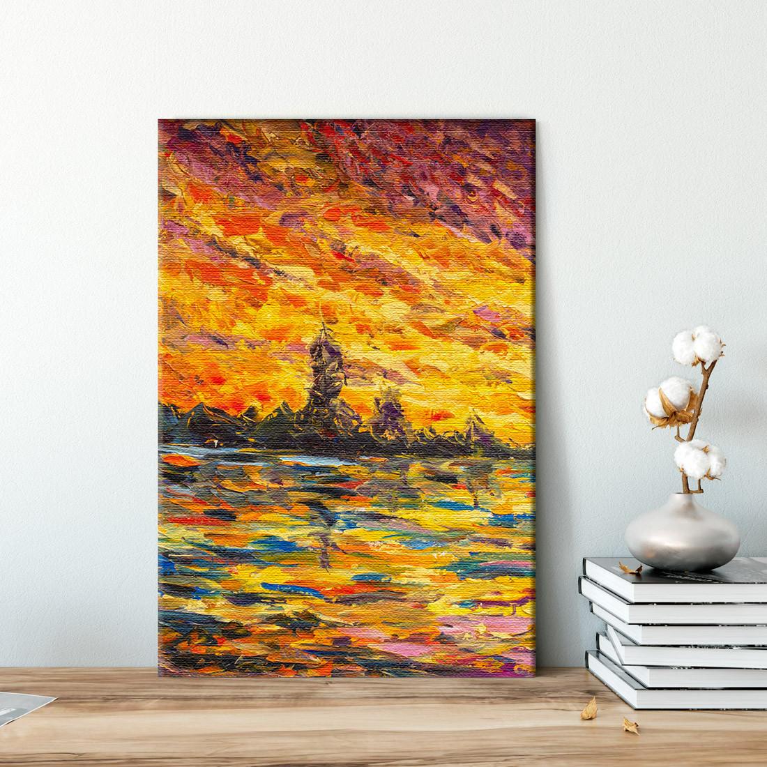 Quadro Decorativo Pintura Abstrata Outono - Em Canvas