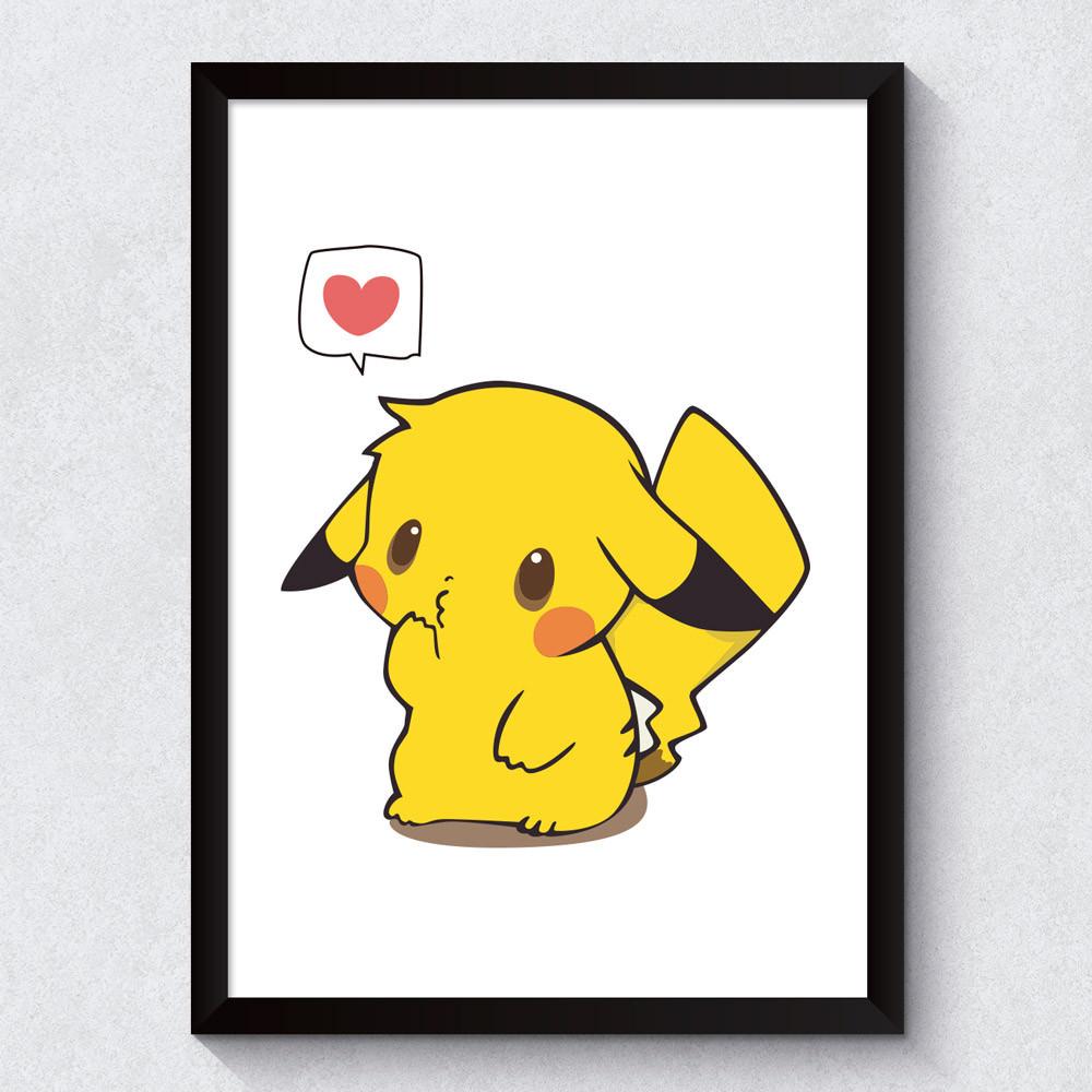 Quadro Decorativo Pikachu