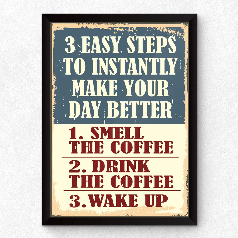 Quadro Decorativo 3 Easy Steps...