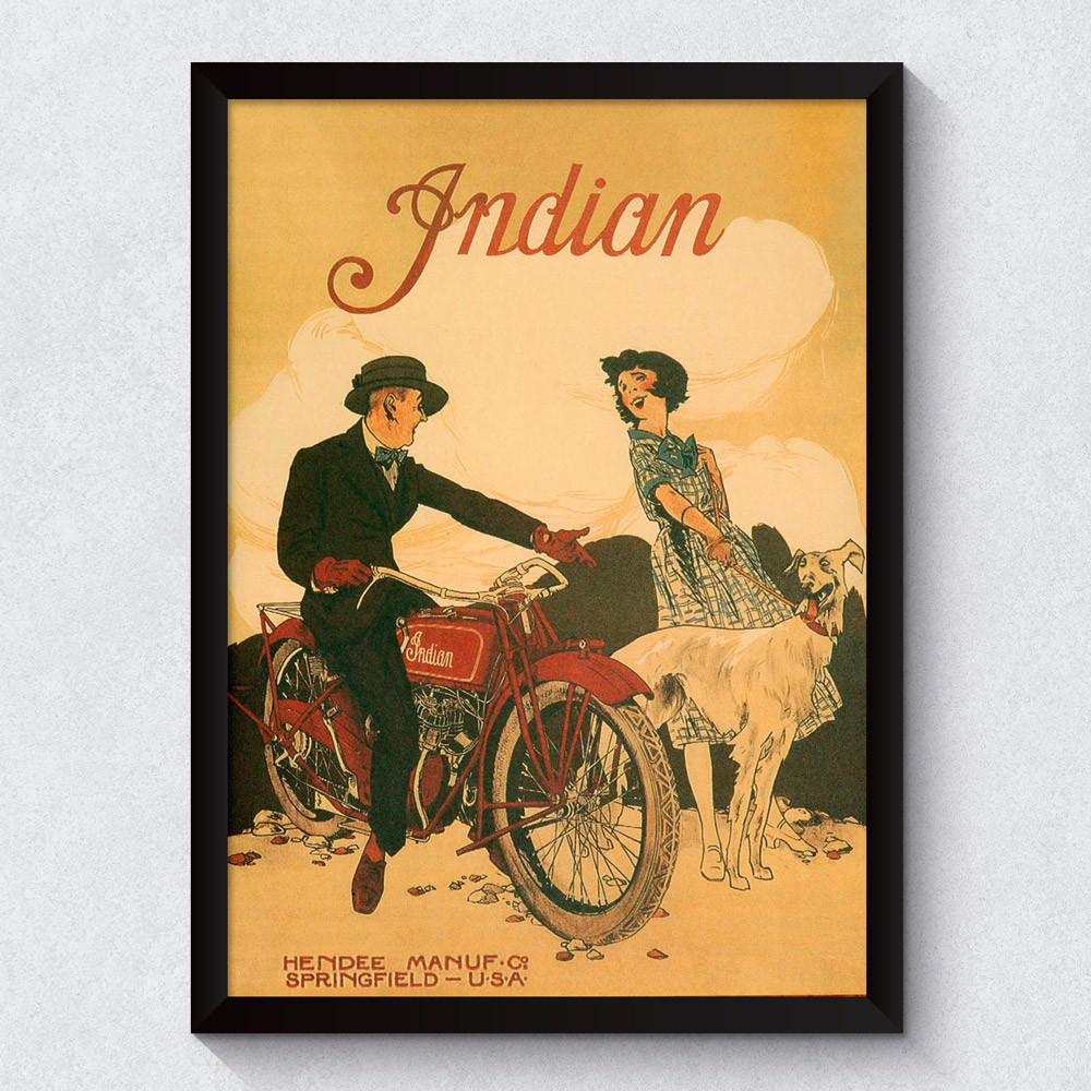 Quadro Decorativo Retrô Indian