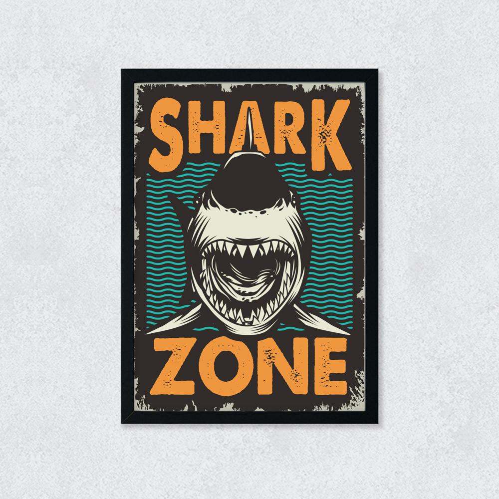 Quadro Decorativo Shark Zone