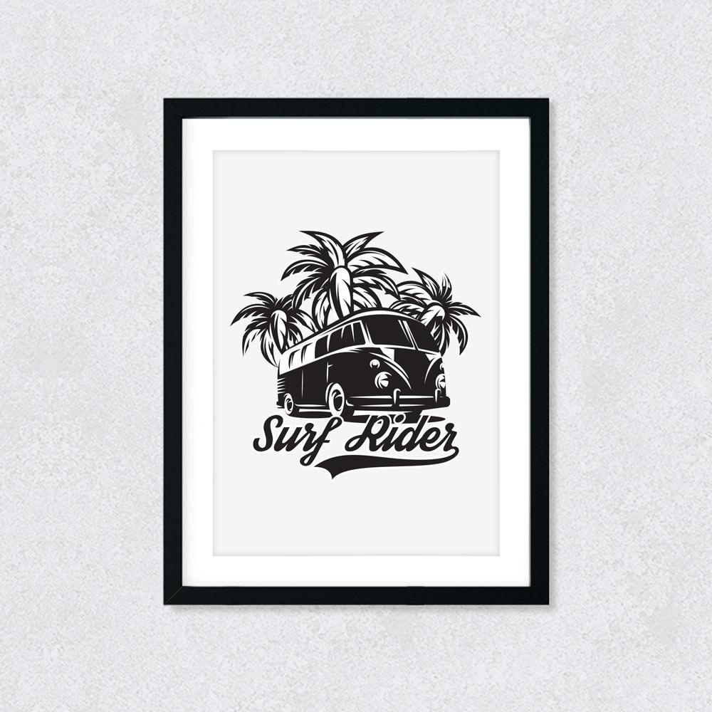 Quadro Decorativo Surf Rider