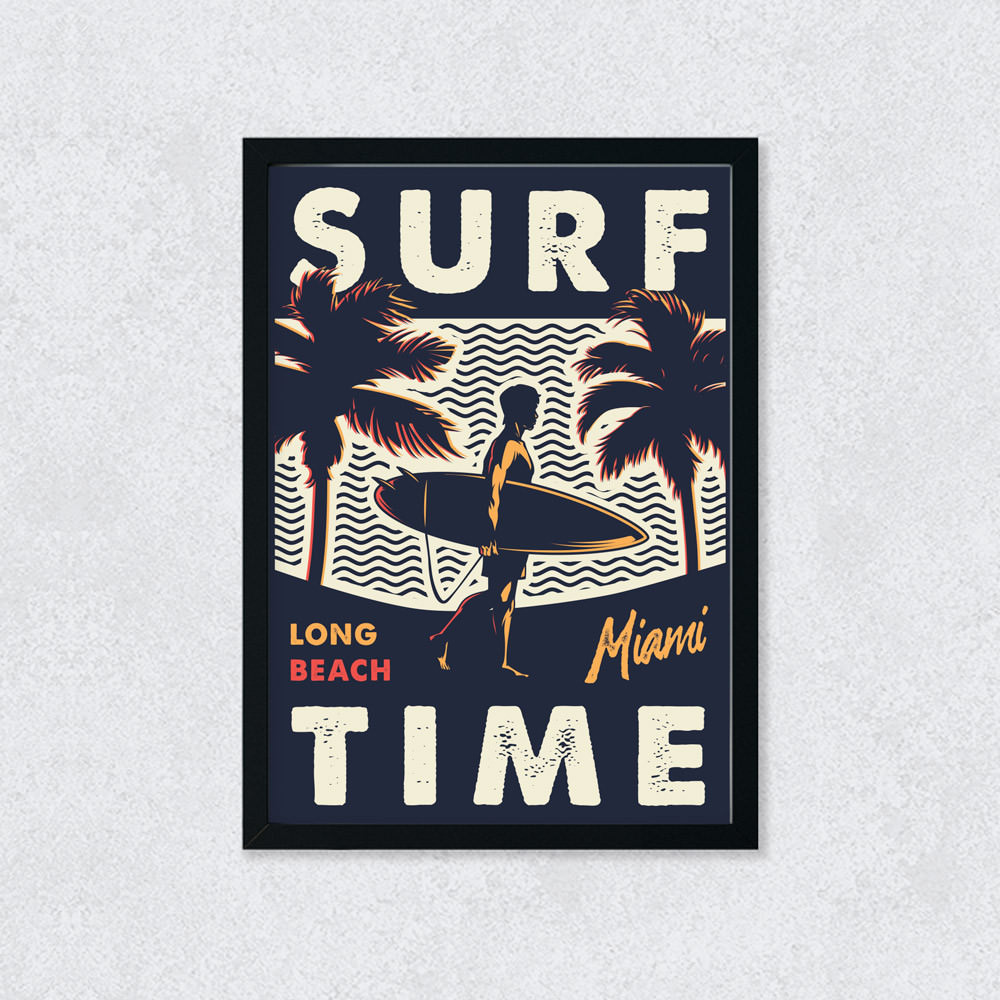 Quadro Decorativo Surf Time