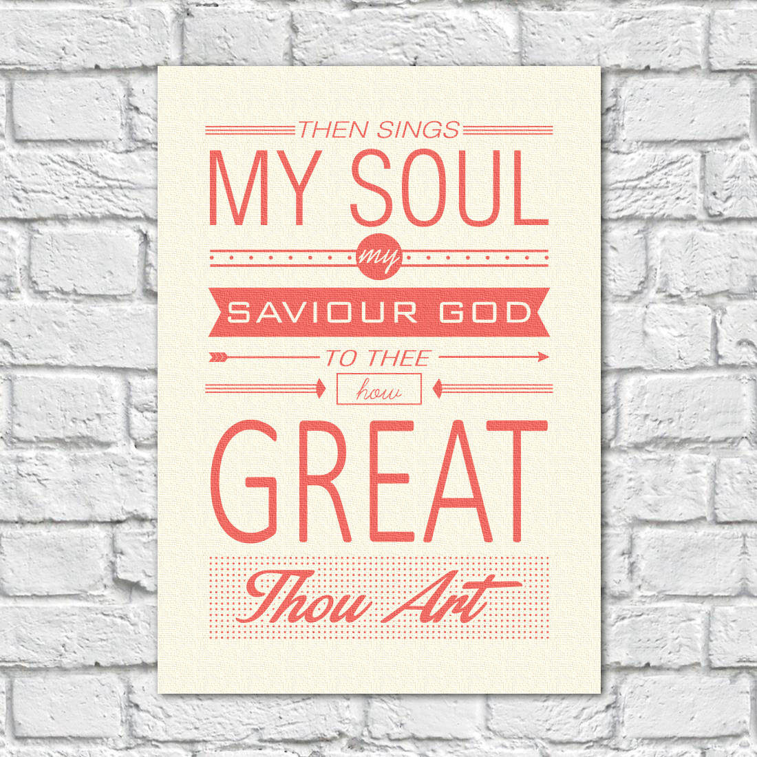 Quadro Decorativo The Sings My Soul, My Saviour God - Em Canvas