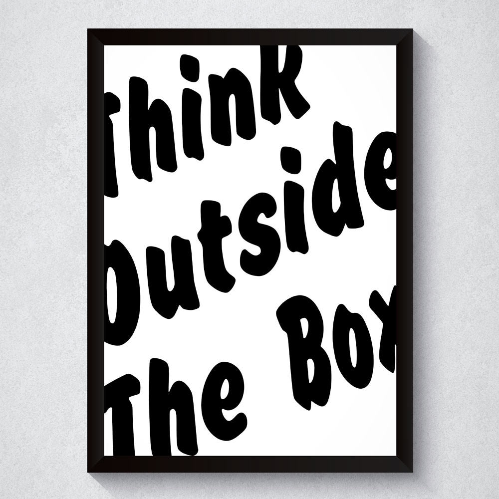 Quadro Decorativo Think Outside The Box