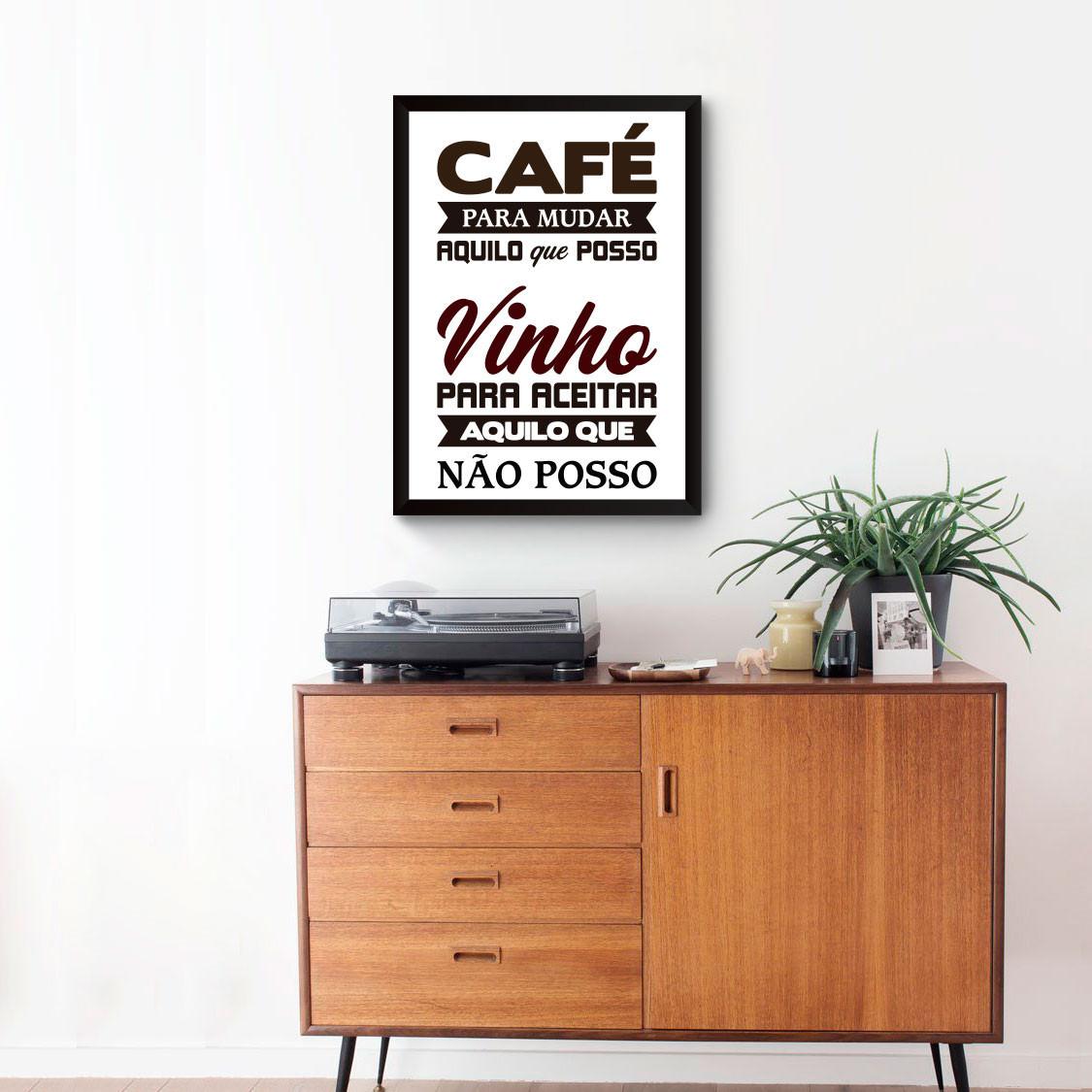 Quadro Decorativo Cafe e Vinho
