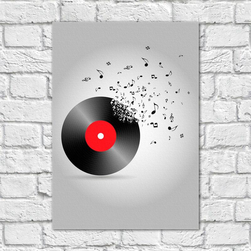 Quadro Decorativo Vinil Musical - Em Canvas