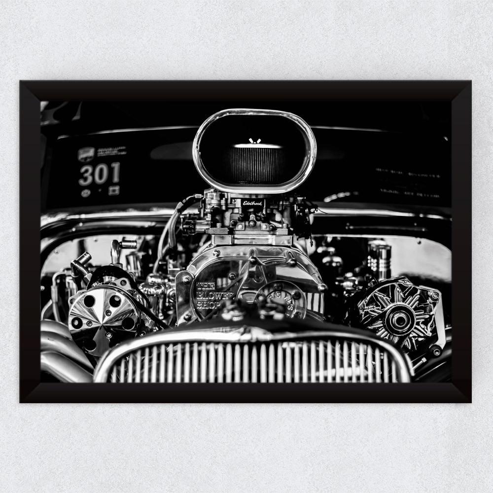 Quadro Decorativo Motor Edelbrock Carro Antigo