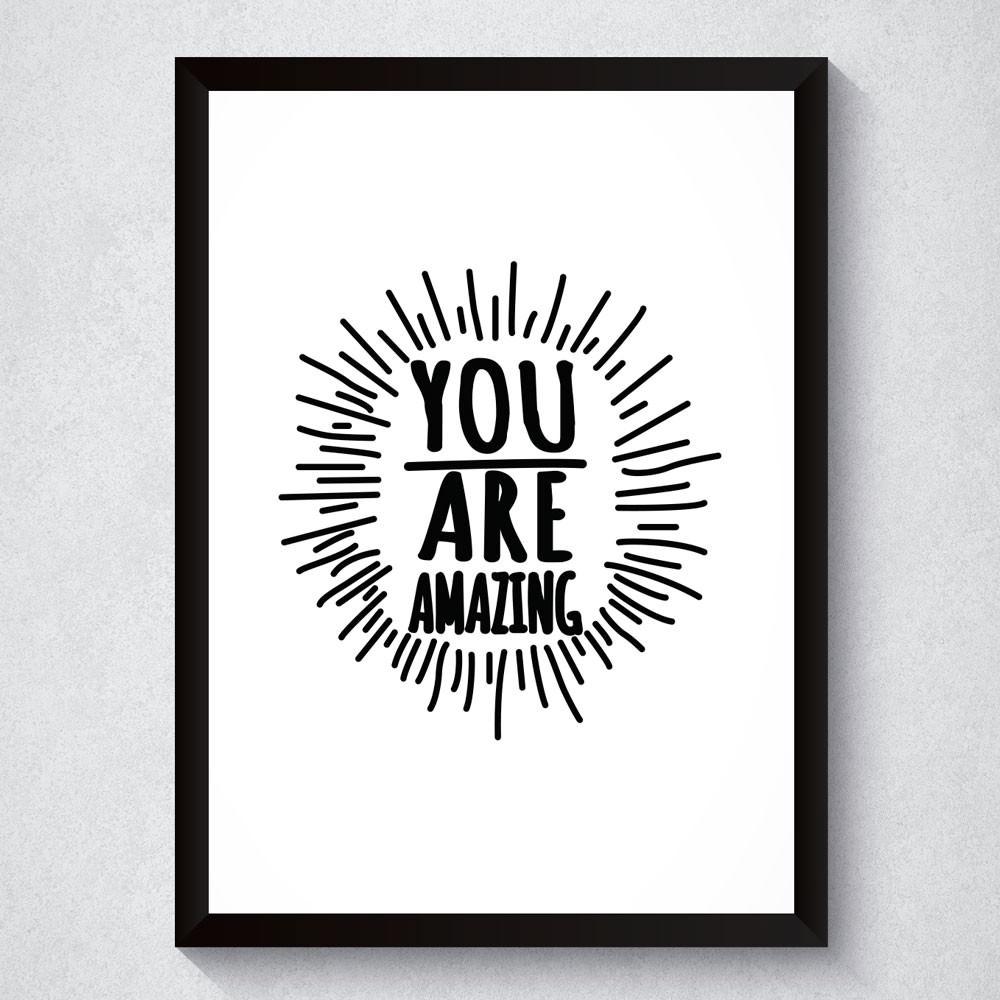 Quadro Decorativo You Are Amazing (Branco)