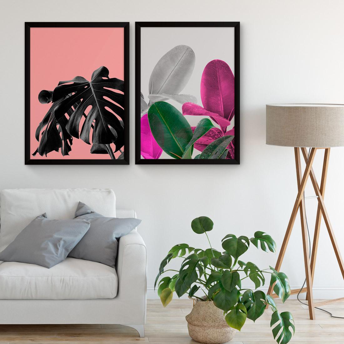 Quadros Decorativos Tropical Rosa