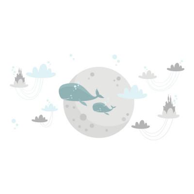 Adesivo de Parede Infantil Zepelim Animais