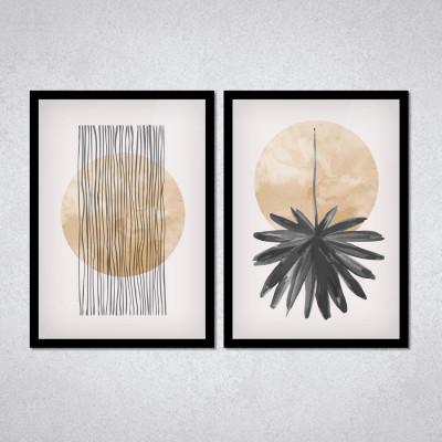 Conjunto de Quadros Decorativos com Planetas