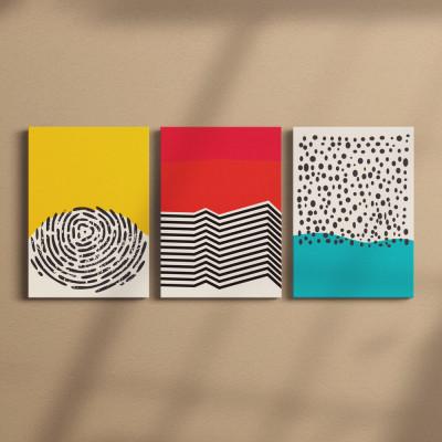 Conjunto de Quadros Decorativos Papoulas