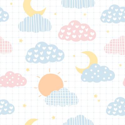 Papel de Parede Nuvens Coloridas