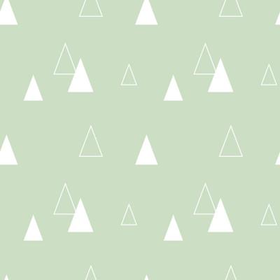 Papel de Parede Triângulos Abstratos (Azul Bebê)