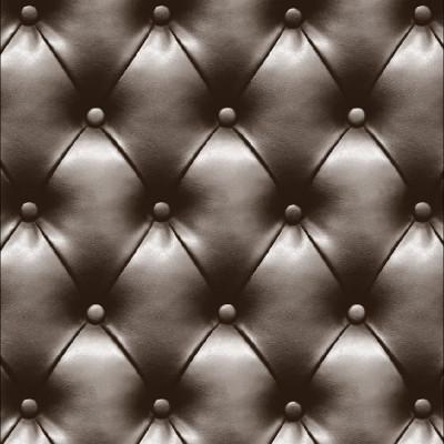 Papel de Parede Acolchoado Marrom - Corium - Rolo com 10 Metros