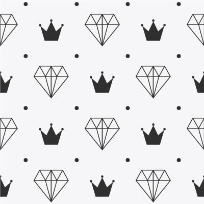 Papel de Parede Coroa e Diamante