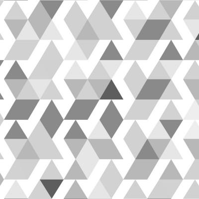 Papel de Parede Abstrato Triângulos (Tons de Cinza)