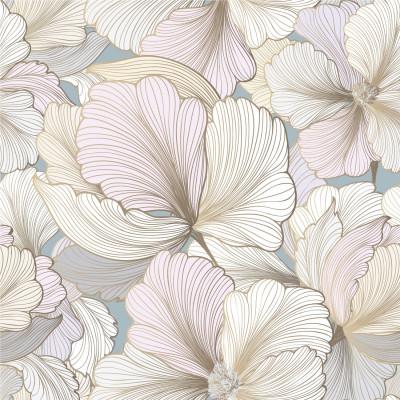 Papel de Parede fundo branco com flores rosas