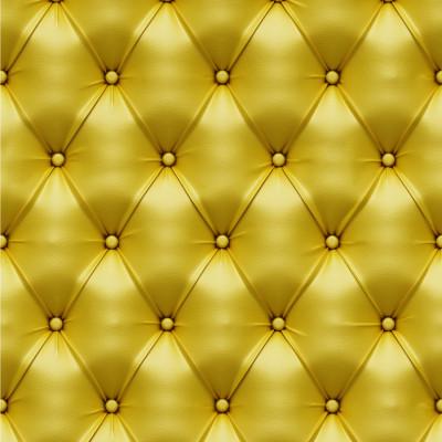 Papel De Parede Capitonê Couro Amarelo