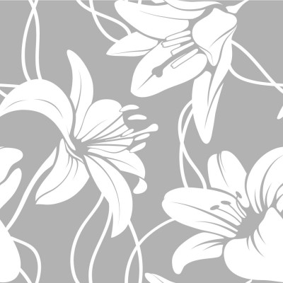 Papel de Parede Floral Lírios Brancos