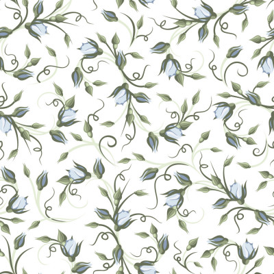 Papel de Parede Flores Azuis