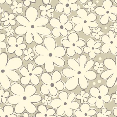 Papel de Parede Flores Simples