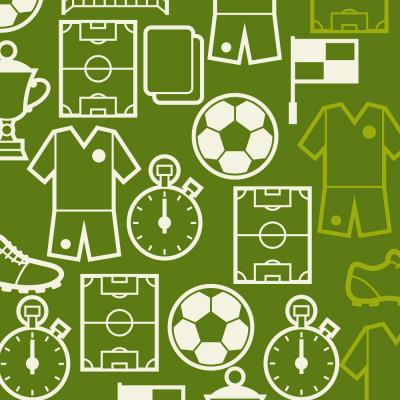 Papel de Parede Elementos do Futebol