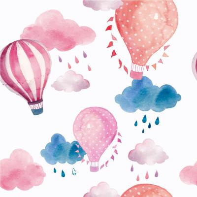 Papel de Parede Balão Aquarela