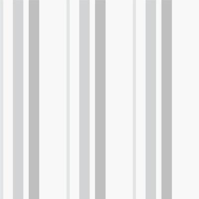 Papel De Parede Listras Verticais Cinza e Branco