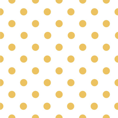 Papel de Parede Poá Amarelo e Branco