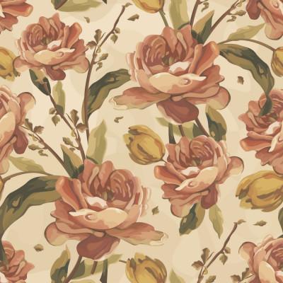 Papel de Parede Floral Rosas